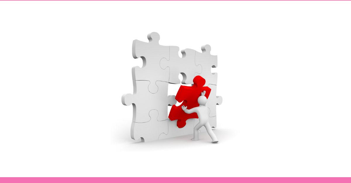 como emagrecer o rosto - dica bônus 4 - foto ilustrativa de um boneco encaixando a última peça do quebra cabeças e resolvendo o problema