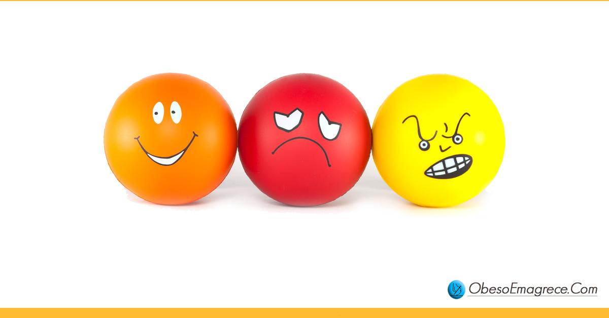 como emagrecer de vez - dica 3: não ignore o lado emocional do processo de emagrecimento - imagem com 3 emoctions representando emoções como felicidade, tristeza e raiva