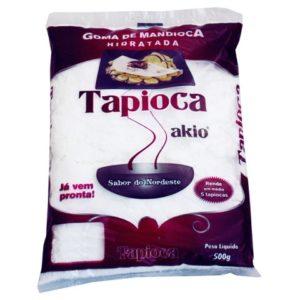 tapioca engorda ou emagrece - pacote de goma de mandioca hidratada da marca akio