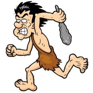 exercícios aeróbicos para emagrecer - ilustração de um homem das cavernas correndo
