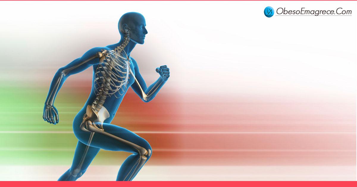exercícios aeróbicos para emagrecer - Razão#1 - a CIÊNCIA já comprovou que exercícios aeróbicos são insignificantes para o emagrecimento - ilustração de um corpo humano correndo