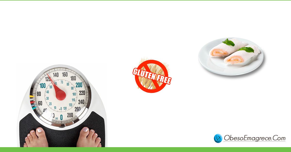 """Tapioca engorda ou emagrece? Engorda! Fato#3: os benefícios da tapioca não anulam o seu poder engordativo (foto de um prato com tapiocas, uma placa de """"gluten free"""" e os pés de uma mulher se pesando em uma balança de ponteiro"""")"""