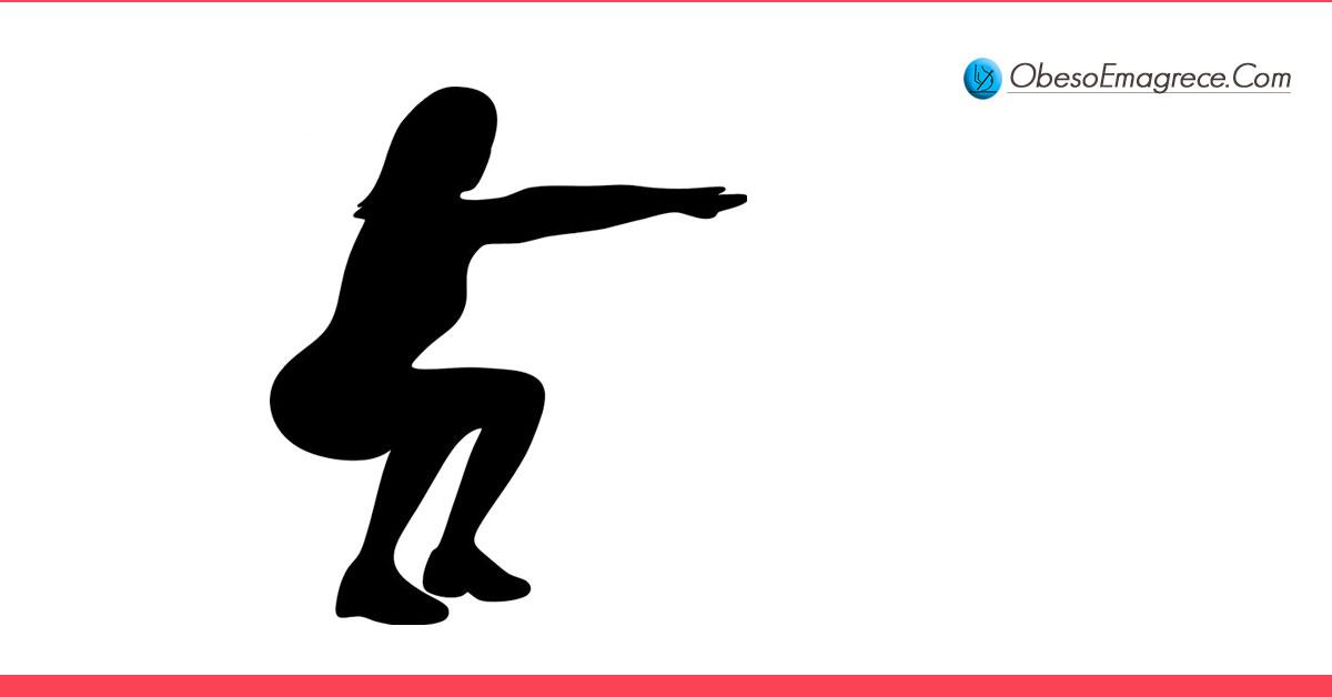 exercícios para emagrecer em casa - quais cuidados devo tomar durante a execução dos movimentos? - silhueta de uma mulher realizando agachamentos