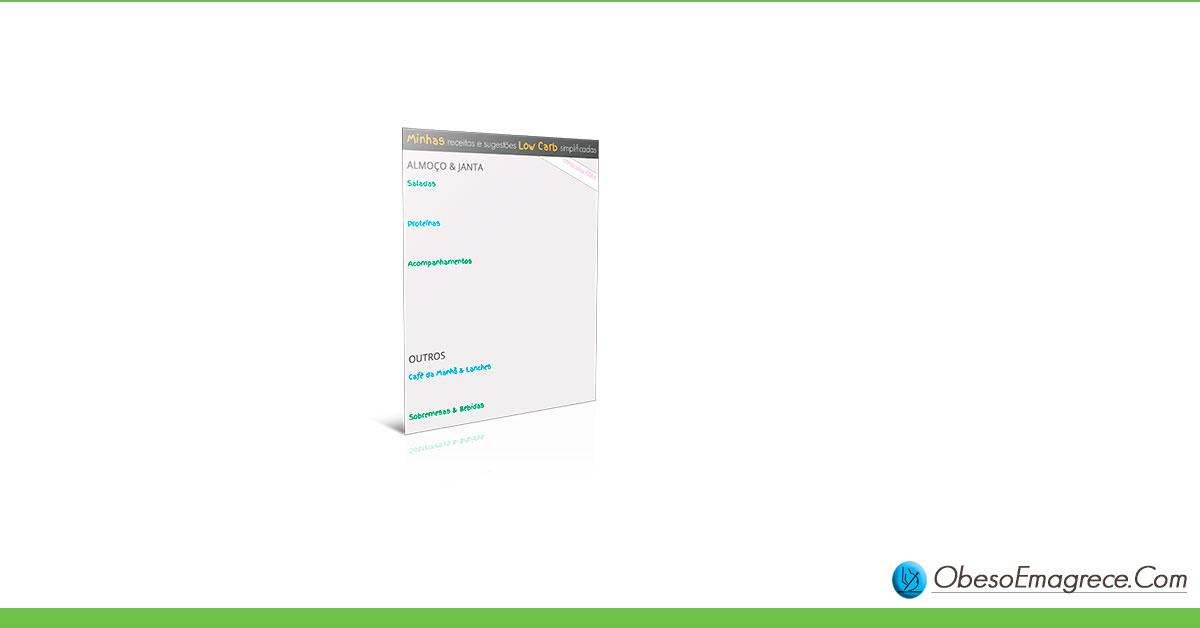 cardápio low carb para emagrecer - infográfico#7: minhas receitas e sugestões low carb simplificadas