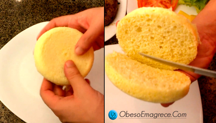 Receitas Low Carb Simplificadas   foto do pão low carb de microondas feito com coco ralado