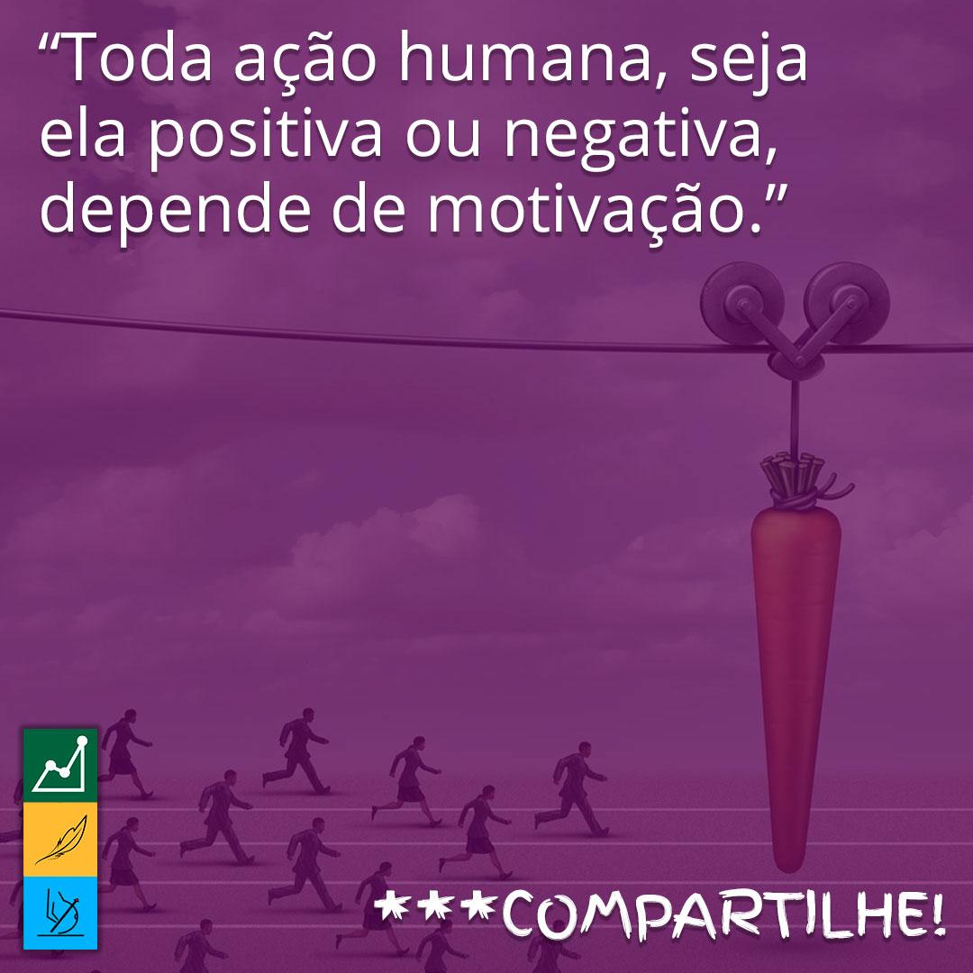 Frase de motivação para emagrecer em imagens | Toda ação humana, seja ela positiva ou negativa, depende de motivação.