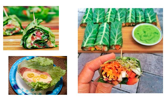 Receitas Low Carb Simplificadas   Foto do wrap de couve ou folha de alface