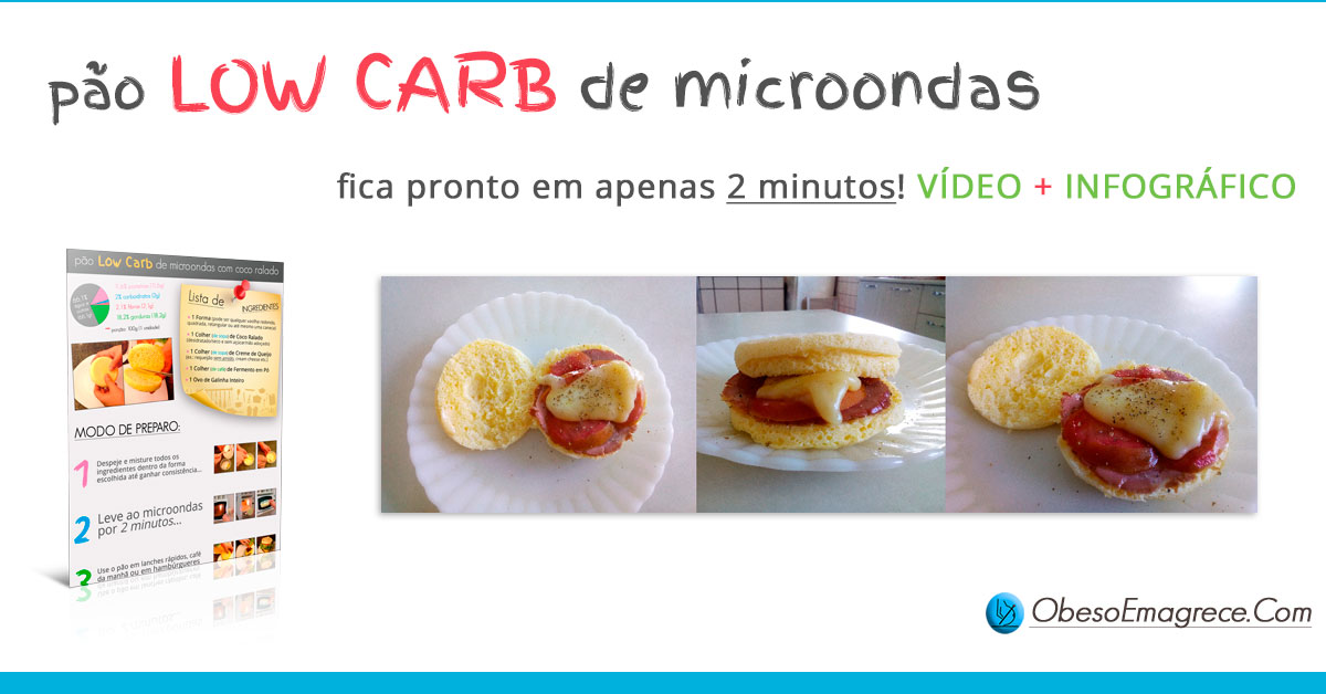 pão low carb de microondas com coco ralado - introdução